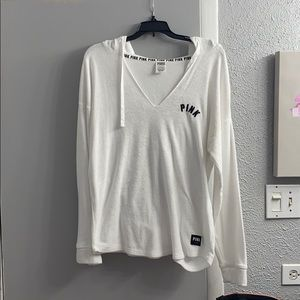 PINK Victoria's Secret Tops - VS PINK V neck hoodie